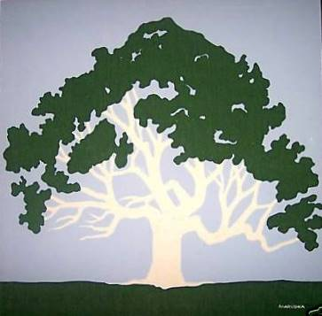 Marushka - large tree (green, blue, white)