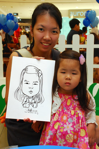 caricature live sketching for West Coast Plaza day 1 - 30