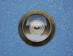 Here's Lookin' at You (dphock) Tags: door circle spy shape peephole nikond80 pfogold