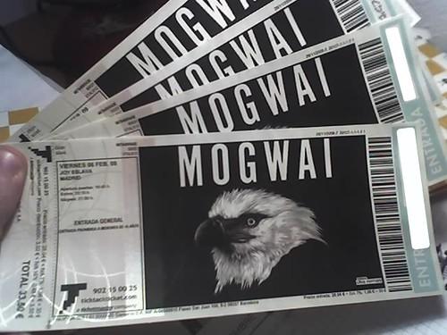 Entradas Mogwai