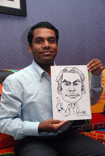 Caricature live sketching for Dow Jones 7
