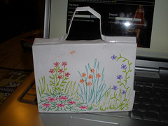 My summery paper handbag, for H