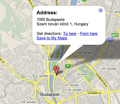 google maps images. Google Maps Budapest Spelling