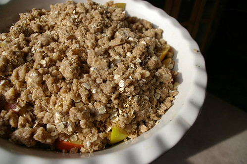 Apple Crisp before baking