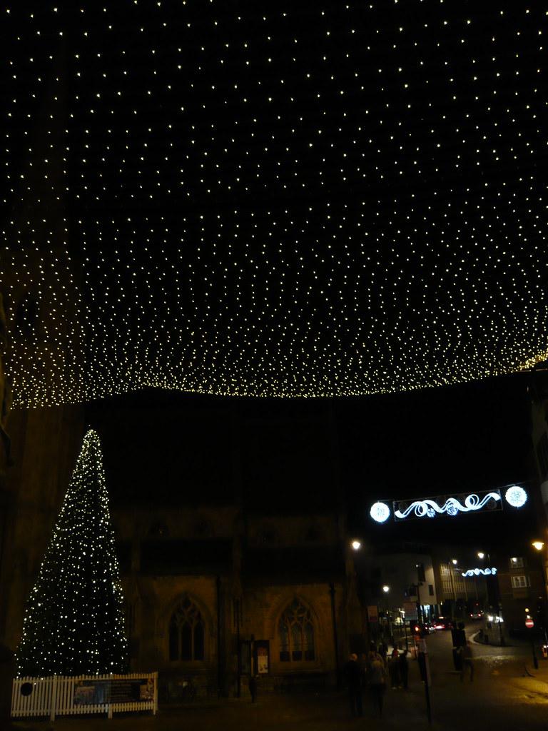 Durham Market Place (hack Man) Tags: Christmas Decorations Tree Net River Lights  University