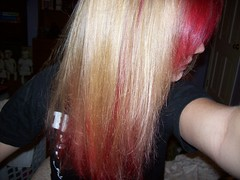 All Blonde (Sirentrance) Tags: red girl hair blonde dye manicpanic