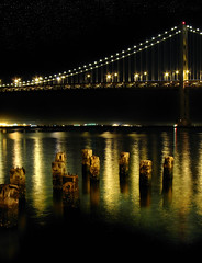 Sutilezas (SlapBcn) Tags: sanfrancisco california longexposure sea usa night de stars noche mar baybridge estrellas vista nocturna slap frisco nit underthebridge puntos sutil ezas canong7 slapbcn usacoasttocoastroadtrip