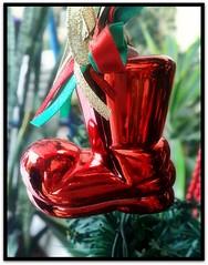 Santa Boots (Debbini) Tags: santa christmas red boots decoration