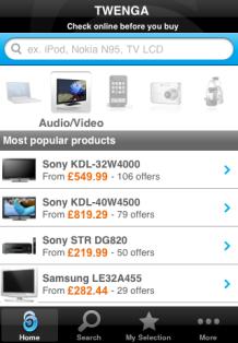 Twenga iPhone app