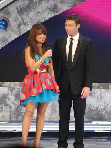 Paula Abdul and Ryan Seacrest. Photo by Mark Goldhaber.