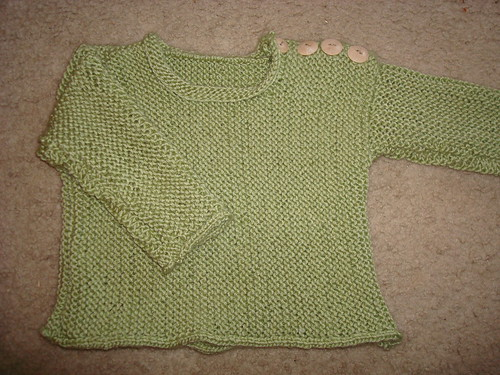 Sweater for a friend's baby