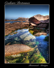 Couleurs Bretonnes (Jerome Mercier) Tags: ocean leica blue sea mer green water colors landscape coast eau britain stones couleurs bretagne bleu cote paysage soe hdr manche ver roche perrosguirec ploumanach mywinners leicadigilux3 colorphotoaward bookjm