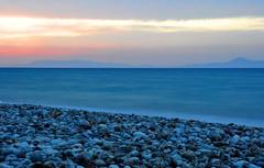 Sunset at Rhodes Island... (CitroenAZU) Tags: sunset sea sky mer beach strand turkey island zonsondergang long exposure kei zee greece ciel lucht plage rhodes turkije rhodos cajou