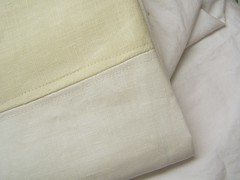 white and ivory pillowcases
