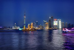 The Pirate Ship in Shanghai at Night (Stuck in Customs) Tags: pictures china lighting travel light sea panorama art texture love modern night reflections painting movie photography intense nikon perfect downtown shoot artist mood photographer shanghai shot photos details d2x perspective images romance best adventure pirate pro johnnydepp tones bund hdr pirateship thebund mostviewed piratesofthecarribean captainjacksparrow stuckincustoms treyratcliff