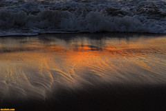 DancingShadows (mcshots) Tags: ocean california winter sunset usa beach nature water reflections coast losangeles waves glow shadows socal lax sands mcshots shimmer dockweiler diamondclassphotographer dragongold