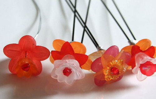 Candy Flower Hairpins. Crafting 365 day 2