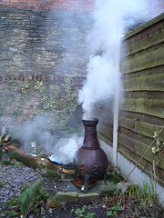 ug, me man, me make fire good (deadmanjones) Tags: fire ug chimenea