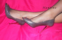 grey peep toes 3 (Kwnstantina) Tags: red grey toes pumps highheels fishnet heels greekfoot paintedtoes sexyfeet peeptoes greekfeet greypumps