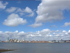 A fine day for fishing (topher@mill) Tags: uk england clouds liverpool rivers mersey fujis5500 supershot anawesomeshot landscapesdreams