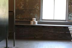 3 bathroom tp's (shunafish) Tags: ocean texture love home monochrome lines northerncalifornia spring focus quiet deconstruct heart notice details touch feel memories perspective collections silence smell gathering hearth marincounty ghosts taste foundobjects letterpress mutedcolors installationart headlandscenterforthearts passover remembering architecturaldetails bigwind openstudios blackandwhiteincolor pastlives april08 irememberwhen whatisart seeingoldfriends 365project deliciouslight friendslost thespaceswemake ageographyiknowwell ihavebeenphotographingheresincethelate1980s meetingartists talkingaboutlookingatart adaywithjessica manyliveslived beinginsomeoneelseshome howseeingsomethingelsecanchangeonesperspective wewillnotregretthepastnorwishtoshutthedooronit architecturalintegrity abusydayattheheadlands architexturaltexture friendsmade rememberingartschool whoareartists handlayingtype lovinghavingacamerainmyhandeveryday whoiamtoday