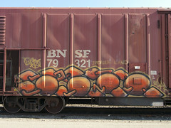 WSPR (TRUE 2 DEATH) Tags: california railroad streetart train graffiti tag graf rusty trains bn railcar rusted weathered spraypaint boxcar railways railfan freight bnsf reefer freighttrain rollingstock wfe burlingtonnorthern westernfruitexpress benching wspr stolenland bnfe