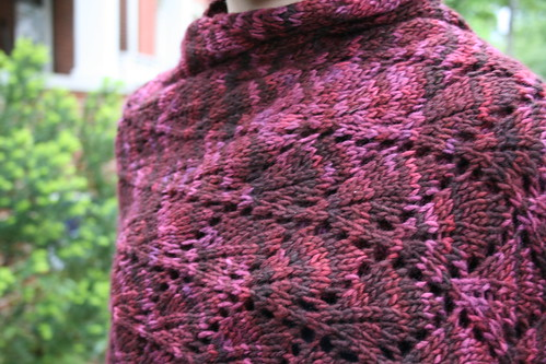 Falling Grape Leaves Shawl