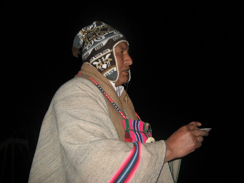 Asking for permission for the Andean blessing