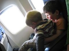 Boys on a plane