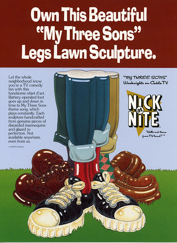 Nick-at Nite Poster: My Three Sons Lawn Sculpture