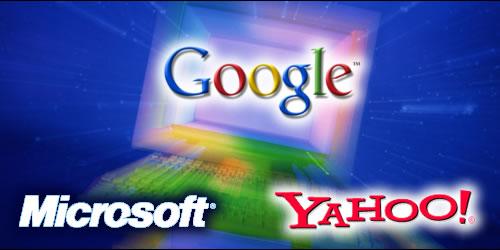 google-microsoft-yahoo par imagenes.comerciales