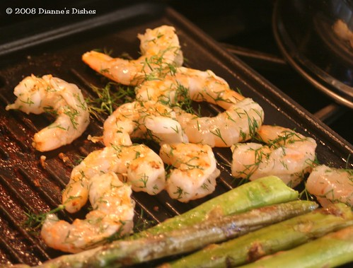 Grilled Dill Shrimp: Grilling