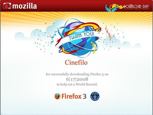 Firefox 3 Download Day Certificado