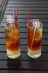 Long Island Ice Teas (HellonEarth2006) Tags: ice thailand glasses amber drink coke tequila cocktail alcohol whisky vodka rum koh gin samet liquid longislandicedtea straws kohsamet triplesec mekhong alcoholicdrinks