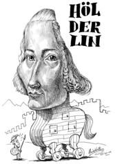 HÖLDERLIN, Friedrich (Morales de los Ríos) Tags: writers caricaturas philosophers caricatures escritores filósofos