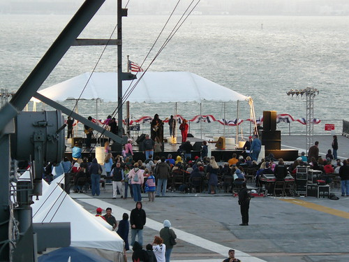 The band pavilion at the stern of the Hornet on 2008-07-04
