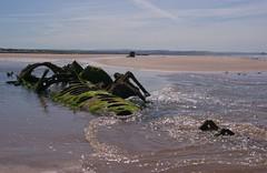 Midget Submarine (Sandy Beach Cat) Tags: uk sea sky history beach scotland boat sand war pentax submarine shipwreck ww2 wreck archeology worldwar2 lothian aberlady xcraft tirpitz k10d