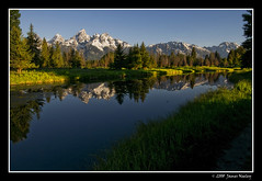 Clear and Bright (James Neeley) Tags: nature landscape james tetons grandteton hdr grandtetonnationalpark neeley gtnp 5xp schwabaucherslanding schwabauchers