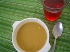 Sopa de verduras cocidas