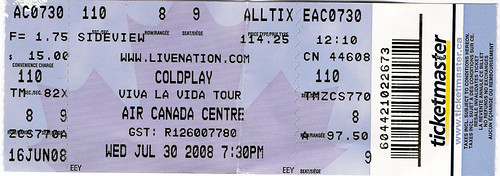 Coldplay Concert Ticket