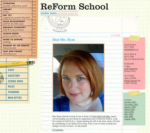 Jenny Ryan + ReForm School = awesome!