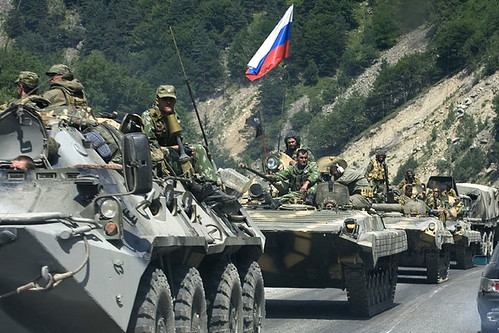 Russian troops heading to Georgia