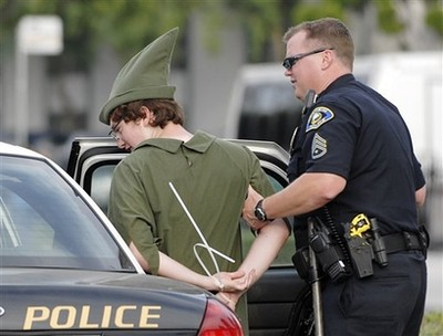 Peter Pan arrested. NOT FOR WHAT YOU THINK!
