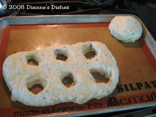 Potato Rosemary Fougasse: Ready for the Second Rise