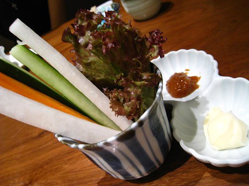 Vegetable Crudités with Mayo & Sweet Miso Dip