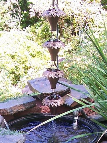 Sunflower Rain Chain detail