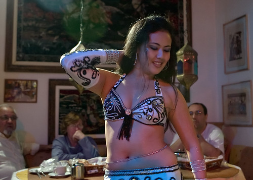 Asian Girl performing Belly Dance at Sao Paulo