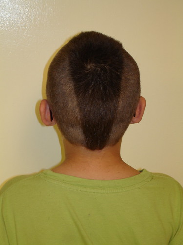 Boys very short hairstyle