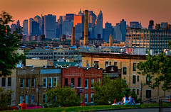 Sunset Park, Brooklyn (Barry Yanowitz) Tags: nyc newyorkcity sunset ny newyork brooklyn manhattan sunsetpark