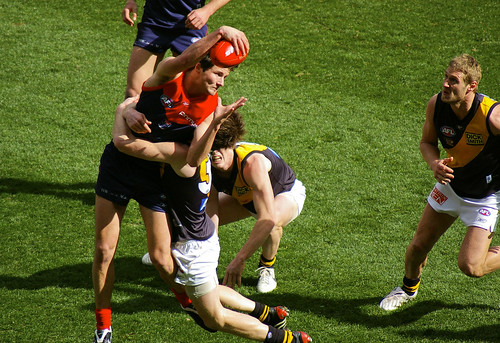 aussie rules action at the g